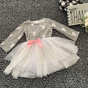 Baby/Toddler Cute Tutu Dress w/Stag Print - Sz 18M